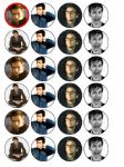 24 x David Tennant Edible wafer paper cup cake top toppers